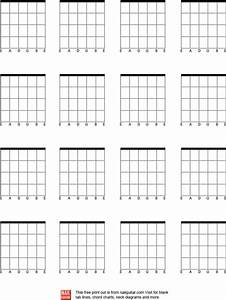 Download Blank Bass Guitar Chord Chart For Free