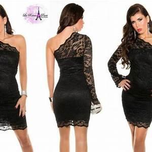 Comprar Vestido de fiesta entallado encaje negro online Vestidos de encaje lareinadeparis