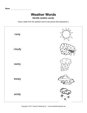 weather words primary