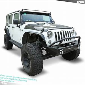 Black Textured Front Bumper Guards W   Winch Plate For 2007