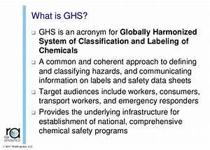 Globally harmonized system training for Globally harmonized system training
