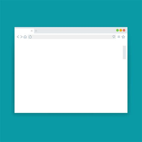Browser window, blank web page vector template By Microvector   TheHungryJPEG.com