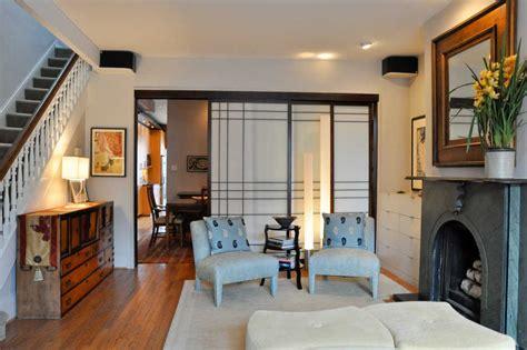 model pintu geser ruang tamu rumah minimalis ala jepang