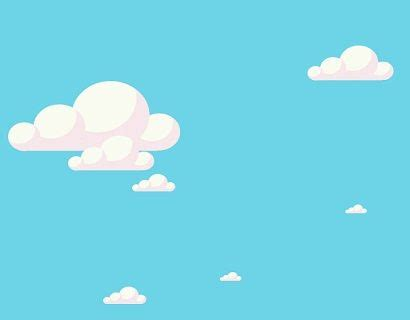 Cloud Animated Wallpaper - 12 moving cloud animation with blue background using