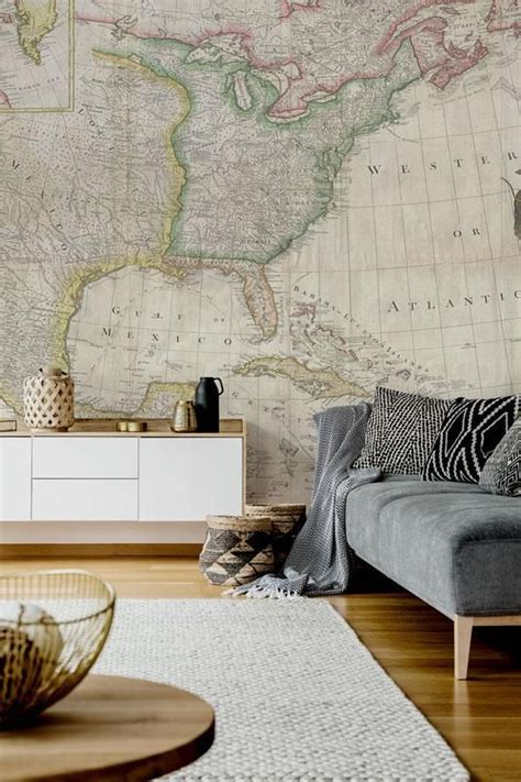 Vintage Map Living Room by 25 Ways To Incorporate Maps Into Home Decor Digsdigs