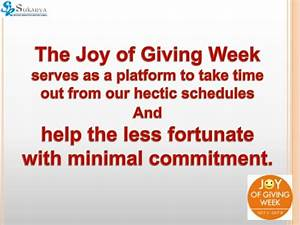 Joy of giving presentation - how individuals can get involved