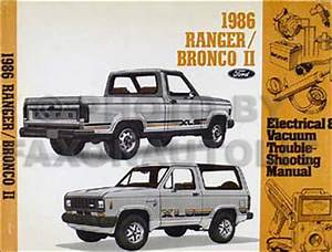 1986 Ford Ranger And Bronco Ii Factory Foldout Wiring Diagram