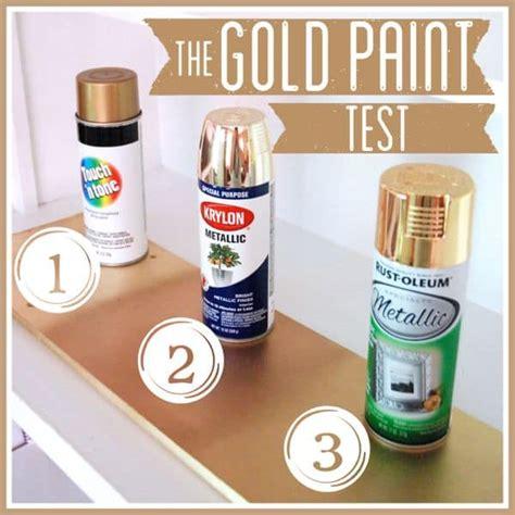 gold spray paint test