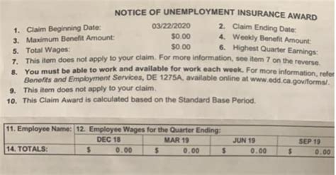 A couple of months later, in october, i got a new job. Collection of Unemployment Award Letter California | Edd Unemployment Question Employee Appeal ...