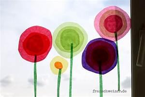 Blumen Basteln Fensterdeko : anleitung f r das fensterbild blumen im fr hling basteln tina kids pinterest basteln ~ Markanthonyermac.com Haus und Dekorationen