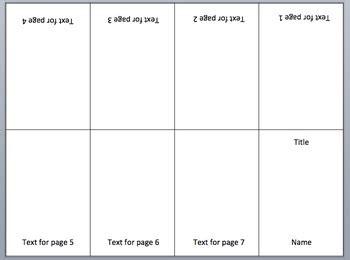 mini book template mini book powerpoint template by o teachers pay teachers