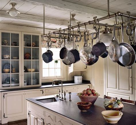 Kitchen Ceiling Pot Hangers by Best 25 Pot Rack Hanging Ideas On Hanging