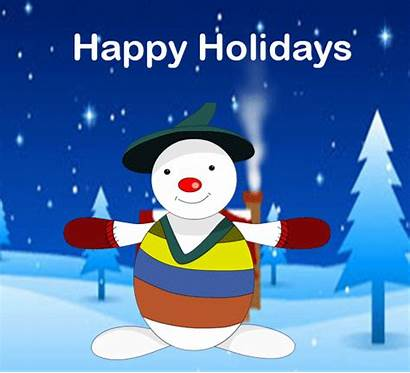 Card Holiday Snowman Holidays Happy Animated Christmas