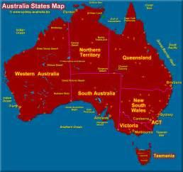 Australia Map with States