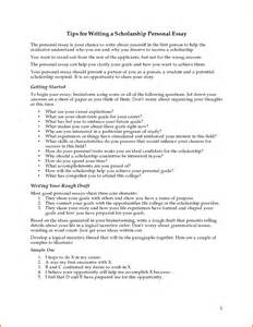 Personal Statement Scholarship Essay Examples