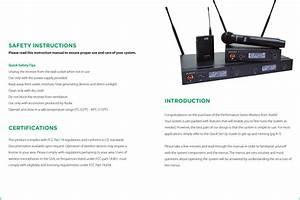 Audix B60 Wireless Microphone Bodypack Transmitter User Manual