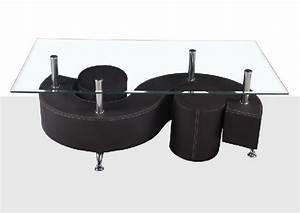 Table Basse 4 Poufs : table basse s avec pouf ~ Teatrodelosmanantiales.com Idées de Décoration