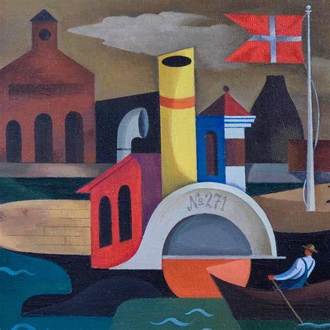 william sanderson northern harbor painting  stdibs
