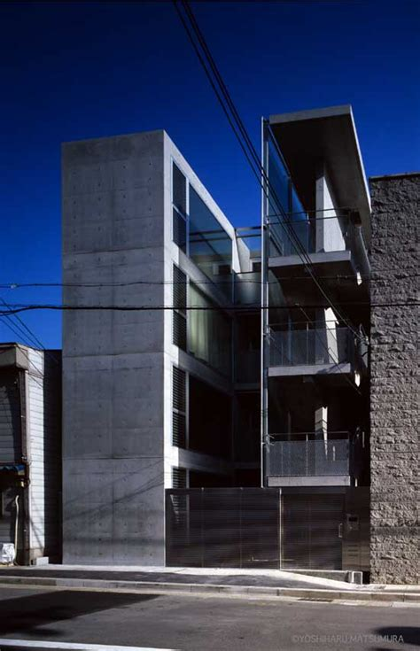 terrace  kobe apartment building architect  architect