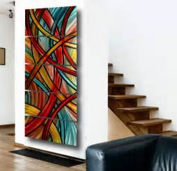 painting ideas for home interiors contemporary wall abstract metal and glass founterior
