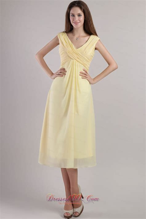 light yellow dress light yellow cross straps bridesmaid dress ankle length