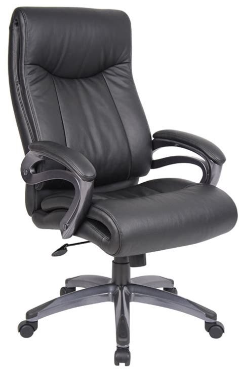new layer padded back home office black leather