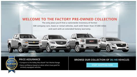 gm factory pre owned collection website takes  car