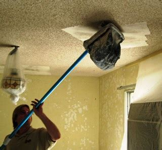 popcorn acoustic ceiling texture removal