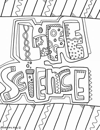 Coloring Subject Doodles Science Covers Project Classroomdoodles