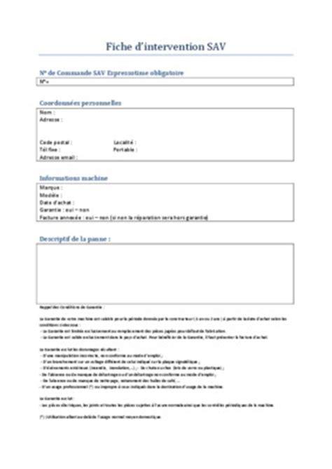 modele fiche d intervention maintenance fiche intervention depannage polmbier pdf notice manuel
