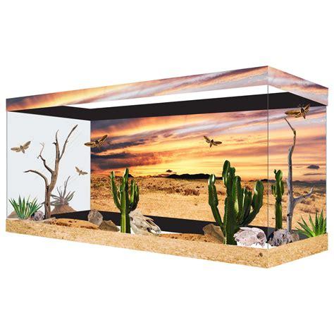 Desert Terrarium Background Habitat Wraps Desert Sunset Reusable Glass Tank Background