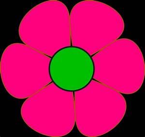 pink and green flower clip art at clker vector clip art