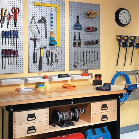 garage peg board organize your garage with metal pegboard my home my style