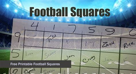 Office Football Pool Tips by 9 Best Football Squares Images On Squares
