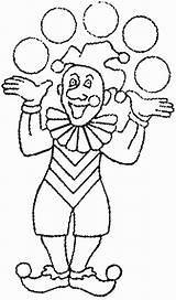 Clown Juggling Coloring Drawings sketch template