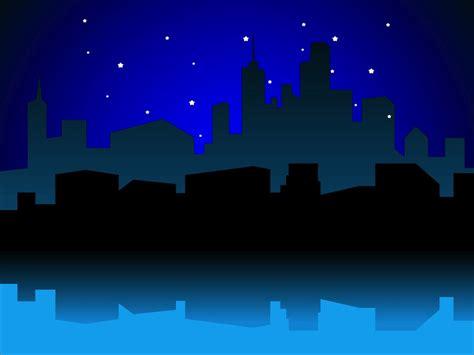 urban night vector vector art graphics freevectorcom