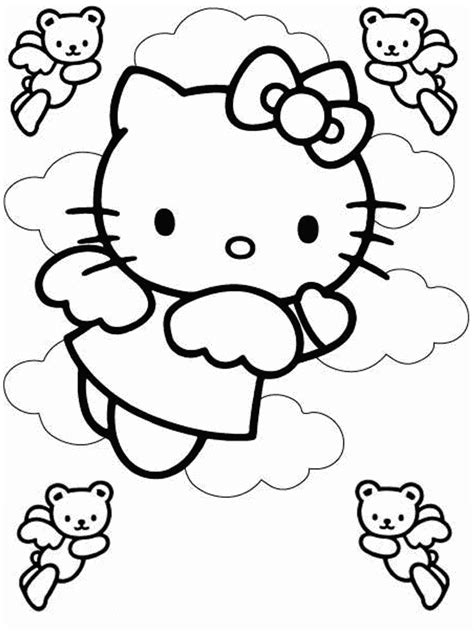 printable  kitty coloring pages  kids