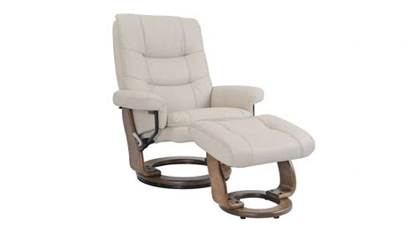 Buy Alta Leather Swivel Recliner And Footstool