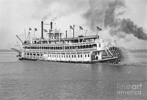 Steamboat News by New Orleans Steamboat Cruise 1905 Photograph By Padre