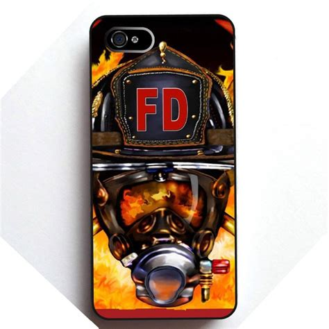 firefighter phone firefighter helmet flames cell phones cover for apple