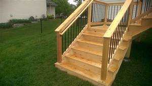 Wood Deck Stairs — New Home Design : How to Make Simple