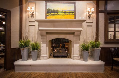 la madeleine project normandy cast stone fireplace