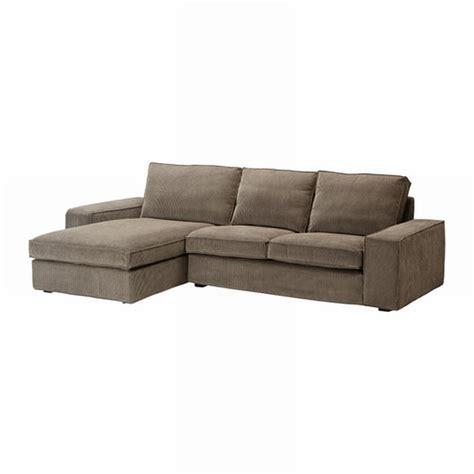 ikea kivik chaise cover ikea kivik 2 seat loveseat sofa w chaise slipcover cover tranas light brown 229 s