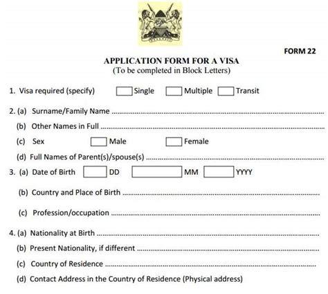 kenyan passport renewal form eregulations kenya