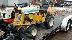 Cub Cadet 124 With Trencher Attachment