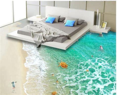 wallpaper floors ideas aliexpress com buy clear 3d flooring living room themes photo wallpapers sea water beach 3d