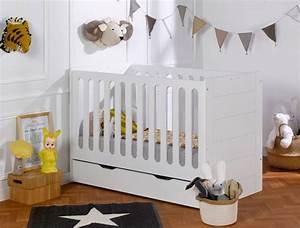 Lit Bébé Avec Tiroir : lit volutif b b module blanc avec tiroir et matelas un ~ Melissatoandfro.com Idées de Décoration
