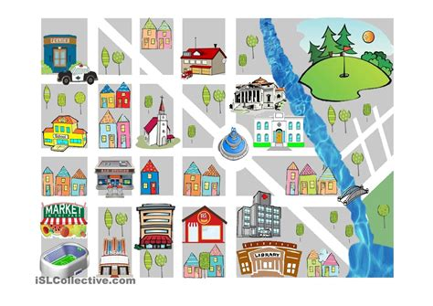 prepositions  place  esl worksheets  images