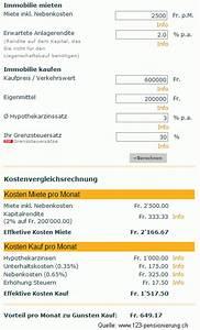 1 1 Rechnung Login : lll wohnen mieten oder kaufen hypothek finanzmonitor ~ Themetempest.com Abrechnung