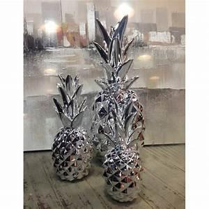 Ananas Deco Argent : fruit d coratif design ananas chrom argent ~ Teatrodelosmanantiales.com Idées de Décoration